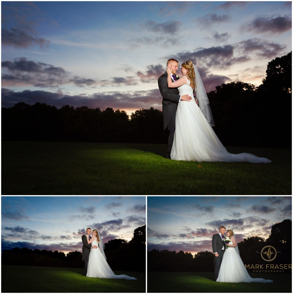 Sunset at Sophie and Robert's Whittlebury Park Wedding - Mark Fraser Photography